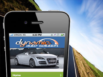 Dynamic Auto Solution mobile website design