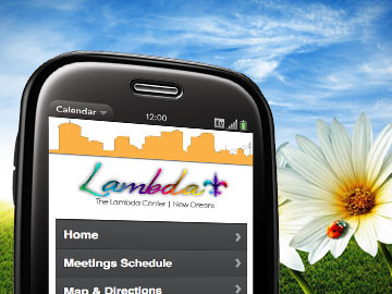 New Orleans Lambda Center mobile website design