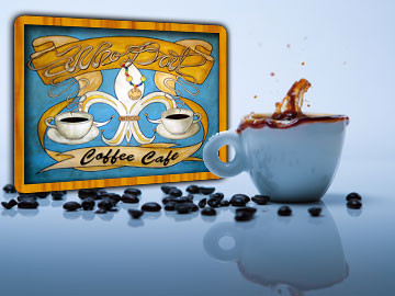 Who Dat Coffee Cafe website designed by ImaginedAtom of New Orleans