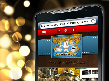 Who Dat Coffee Cafe mobile website design