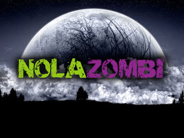 NOLA Zombi website designed by ImaginedAtom of New Orleans