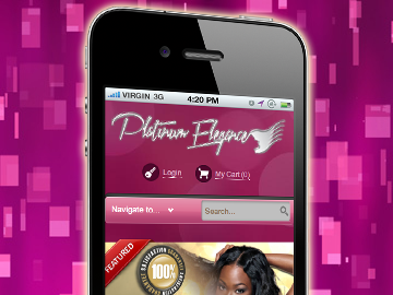 Mobile website designed in New Orleans by ImaginedAtom for Platinum Elegance
