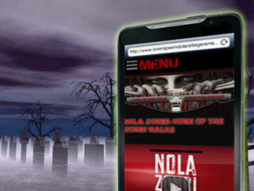 Mobile website designed in New Orleans for NOLA Zombi, LLC