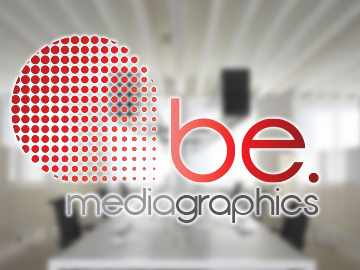 Be. Media Graphics logo design
