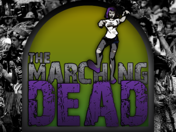 Krewe of the Marching Dead logo design